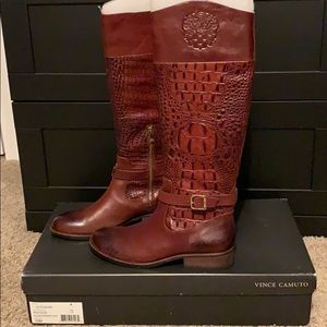 Vince Camuto Alligator Riding Boots